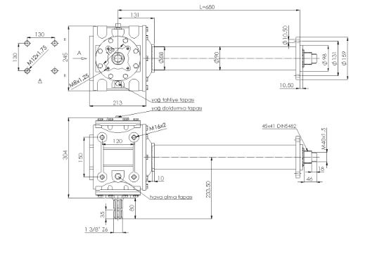 PTO SHAFT & GEARBOX FOR TILLERS-4