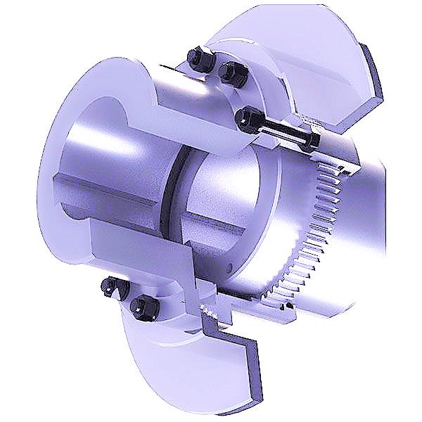 Gear Coupling With Brake Disc