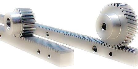 Steel Gear Racks With Mounting Bolts Holes